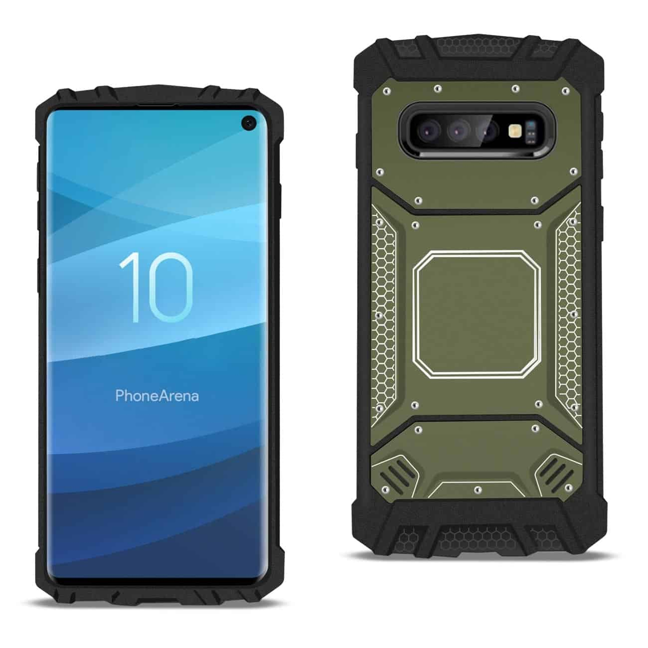 Samsung S10 Metallic Front Cover Case In Gray