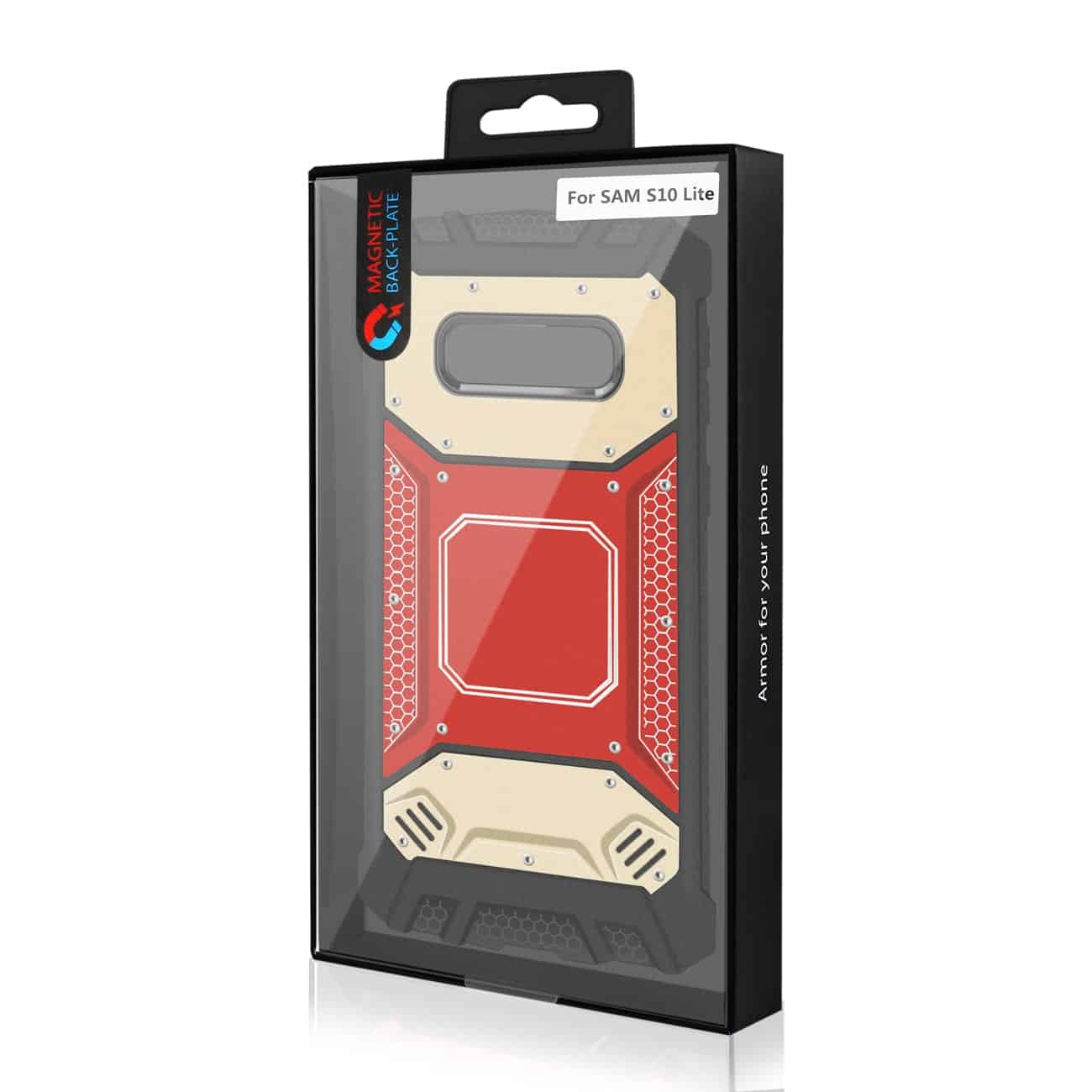 SAMSUNG GALAXY S10 Lite Metallic Front Cover Case In Red and Gold