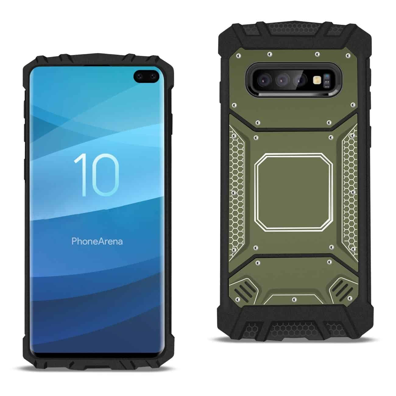 Samsung S10 Plus Metallic Front Cover Case In Gray