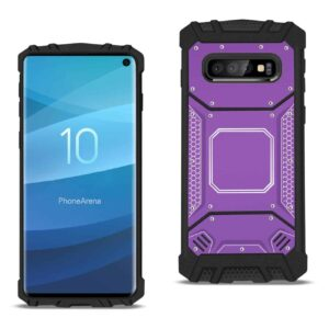 Samsung S10 Metallic Front Cover Case In Purple
