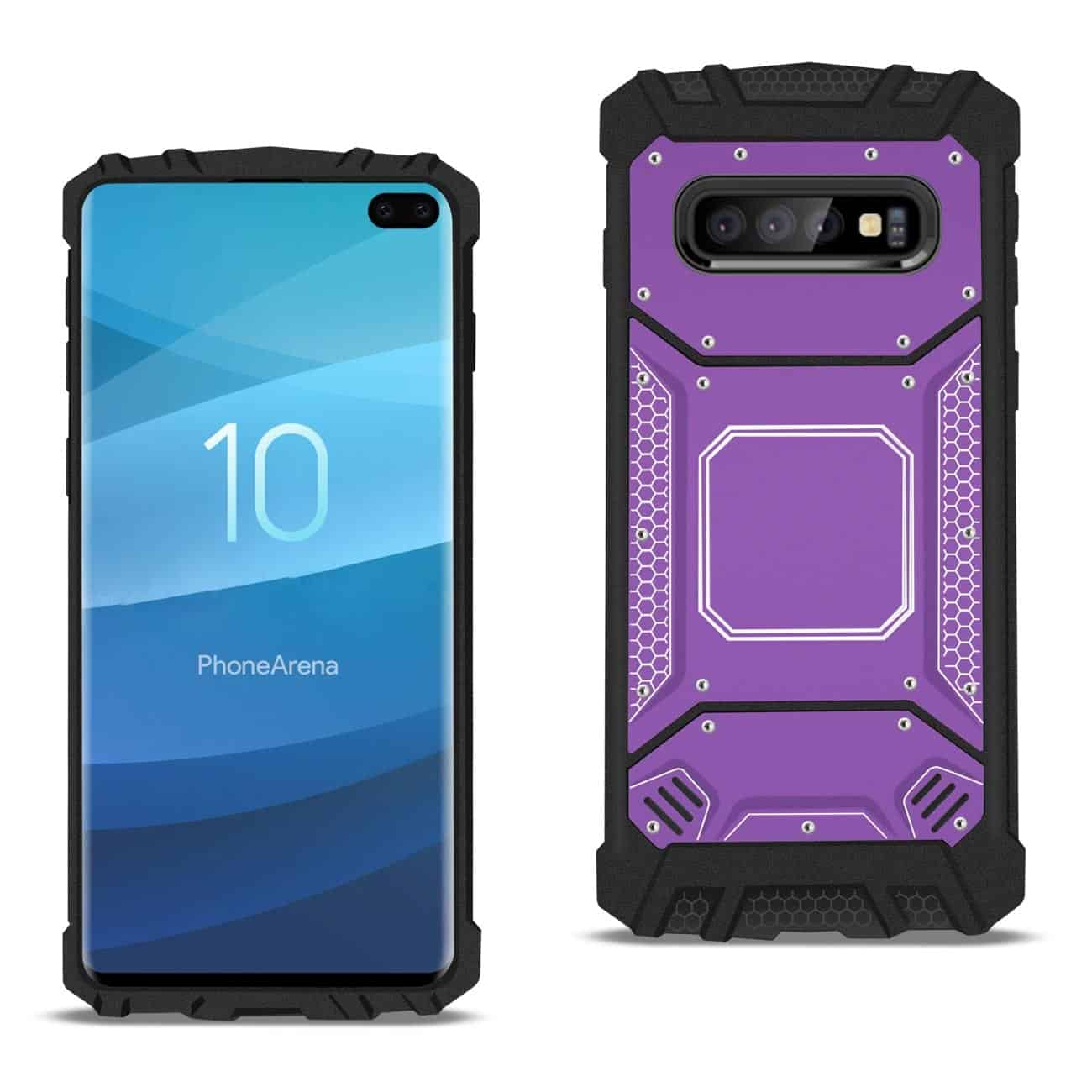 Samsung S10 Plus Metallic Front Cover Case In Purple