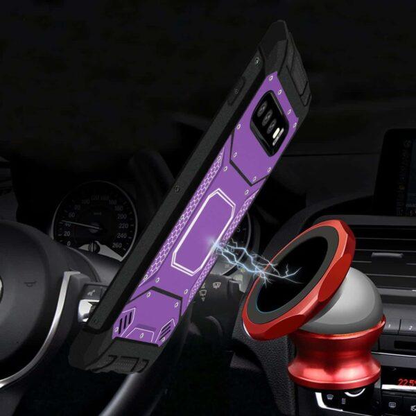 Samsung S10 Plus Metallic Front Cover Case In Purple