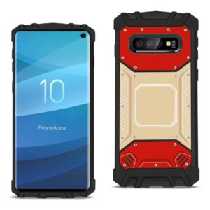SAMSUNG GALAXY S10 Metallic Front Cover Case In Red and Gold