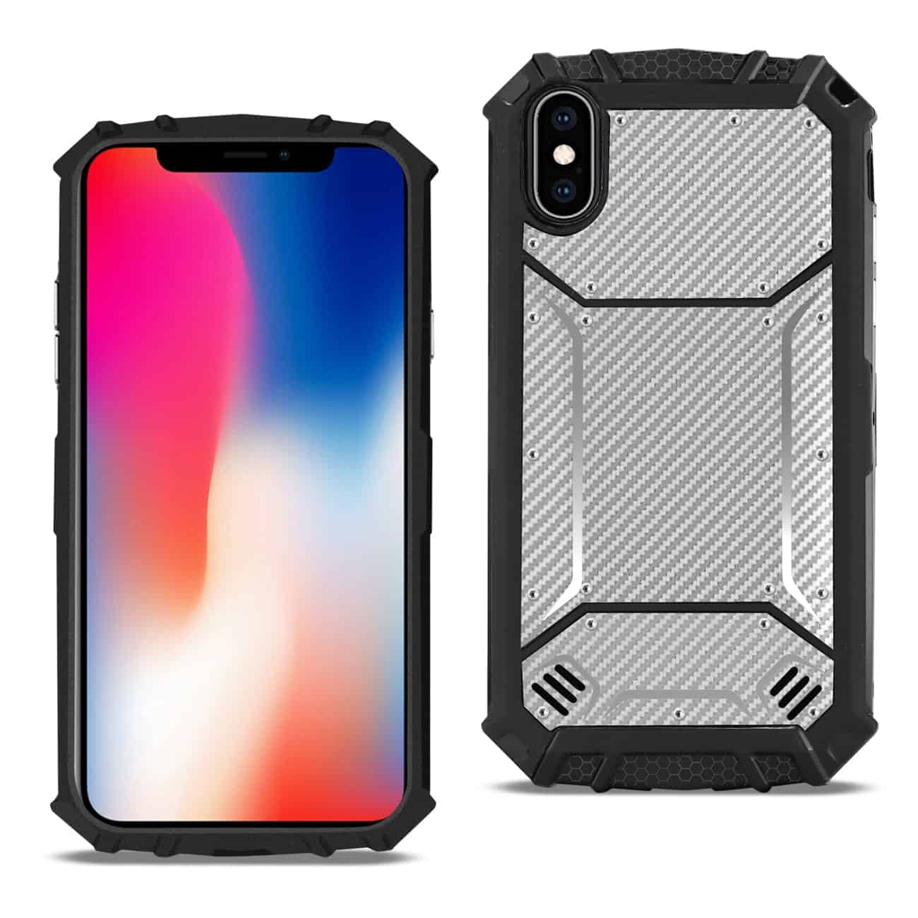 APPLE IPHONE X Carbon Fiber Hard-shell Case In Gray