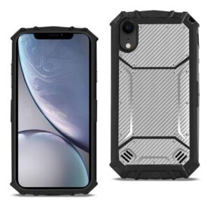 APPLE IPHONE XR Carbon Fiber Hard-shell Case In Gray