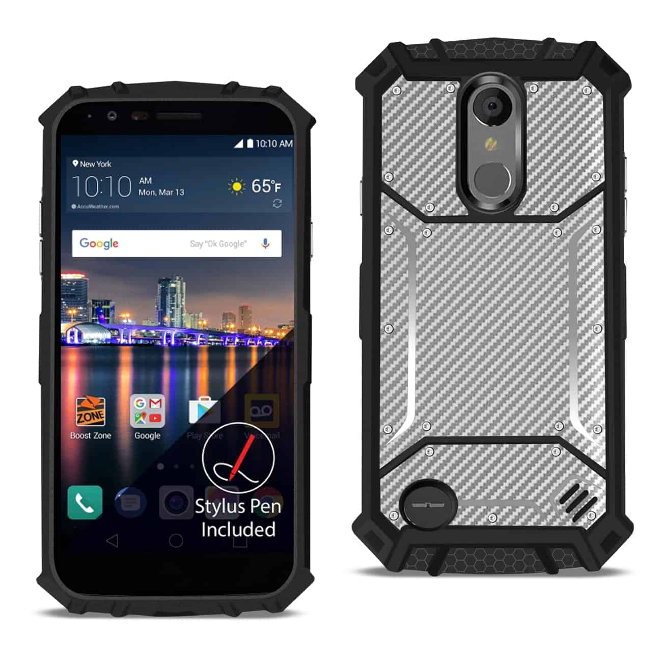 LG ARISTO 3 Carbon Fiber Hard-shell Case In Gray