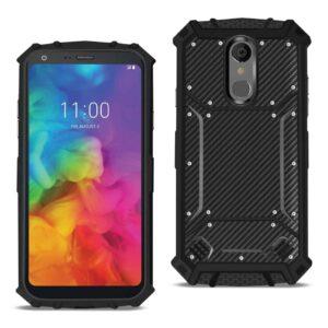 LG Q7 PLUS Carbon Fiber Hard-shell Case In Black