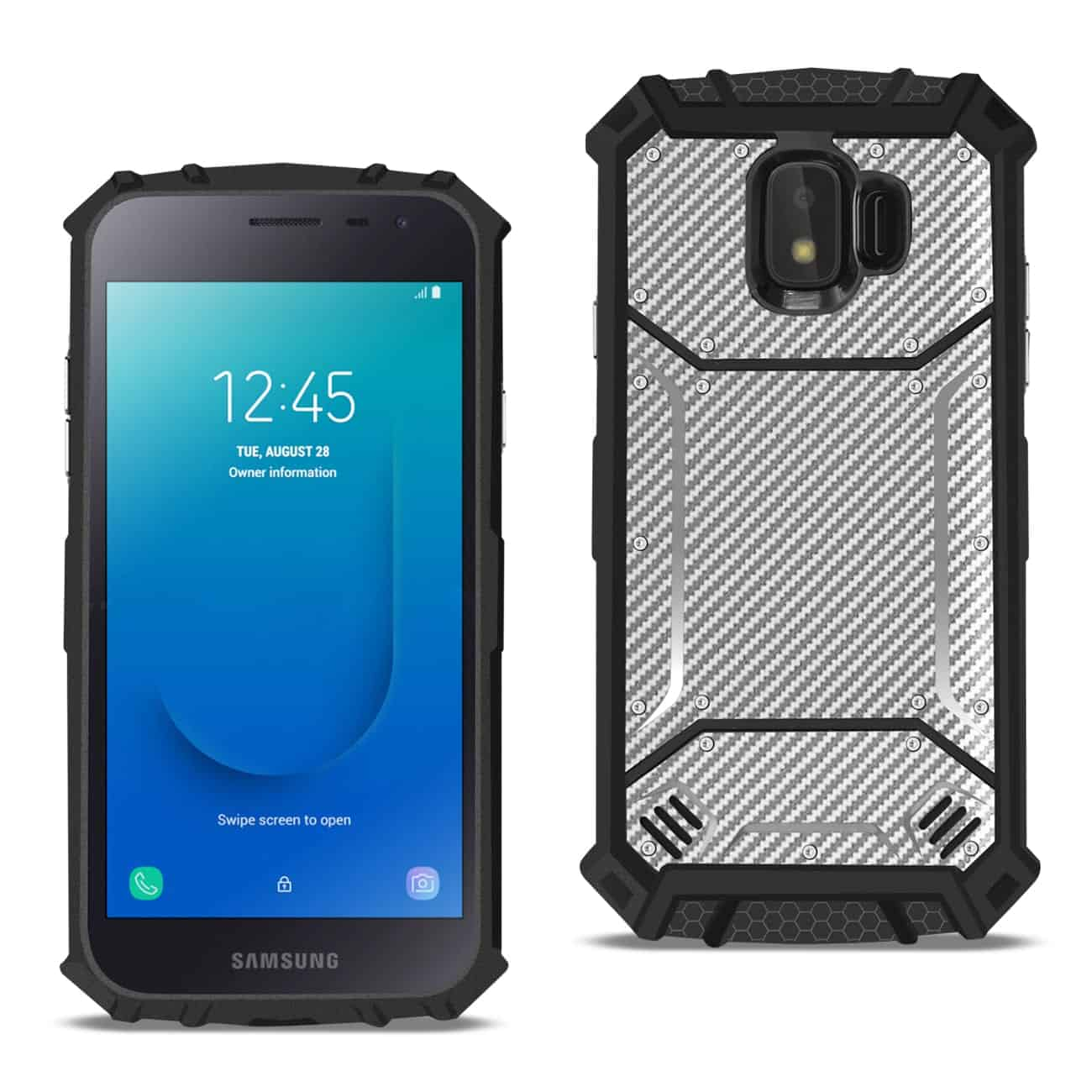 Samsung Galaxy J2 Pure Carbon Fiber Hard-shell Case In Gray