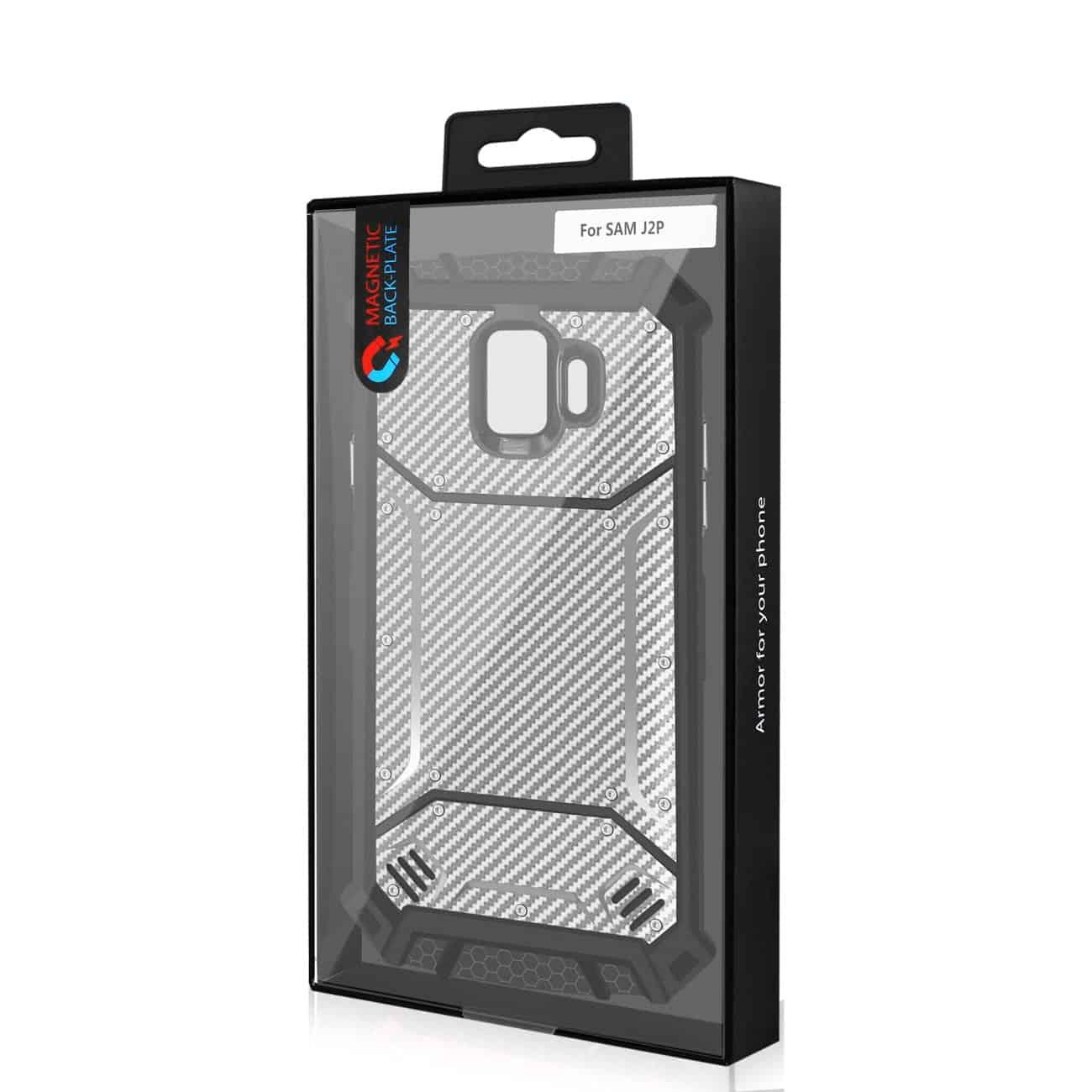 Samsung Galaxy J2 Pure Carbon Fiber Hard-shell Case In Gray
