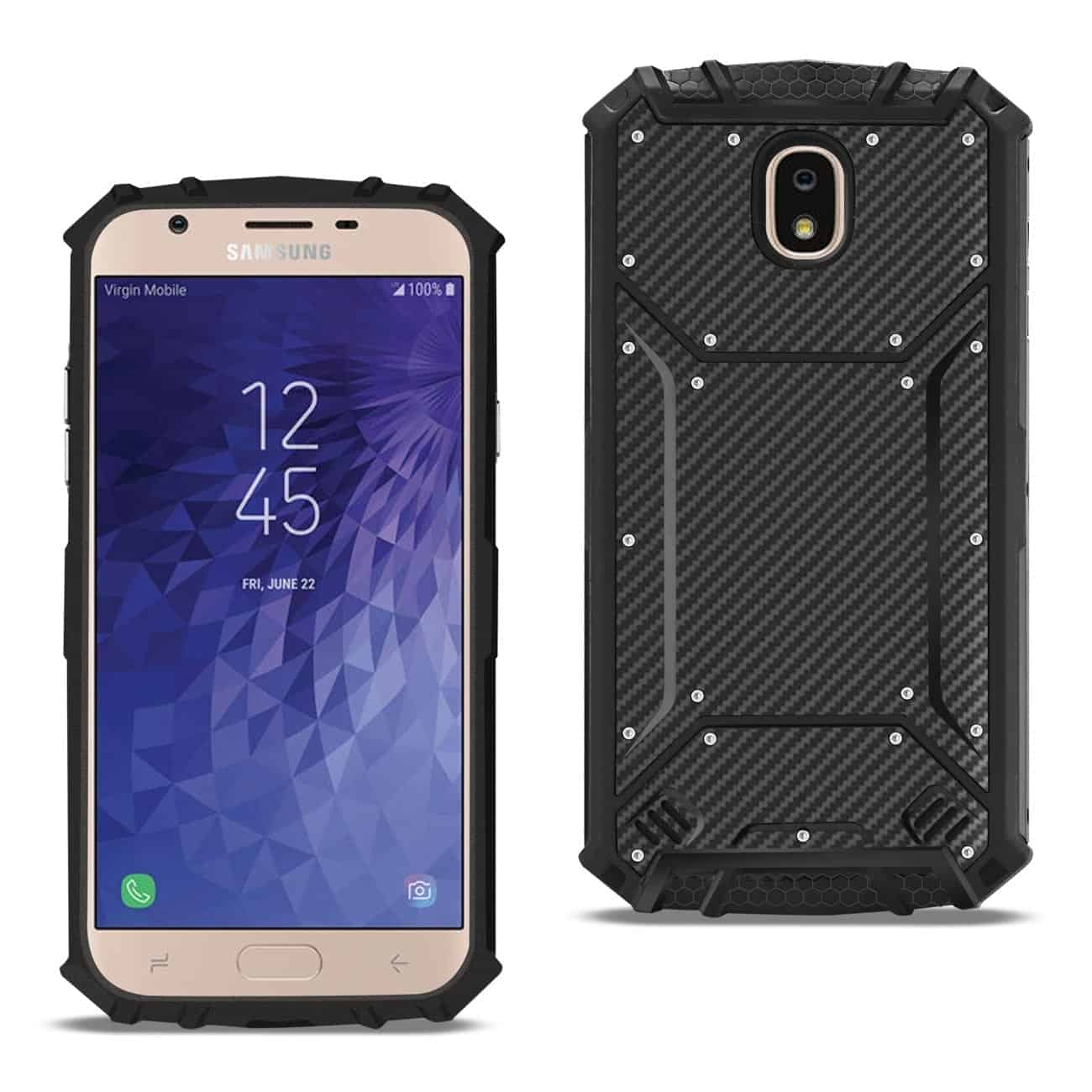 SAMSUNG GALAXY J3 (2018) Carbon Fiber Hard-shell Case In Black