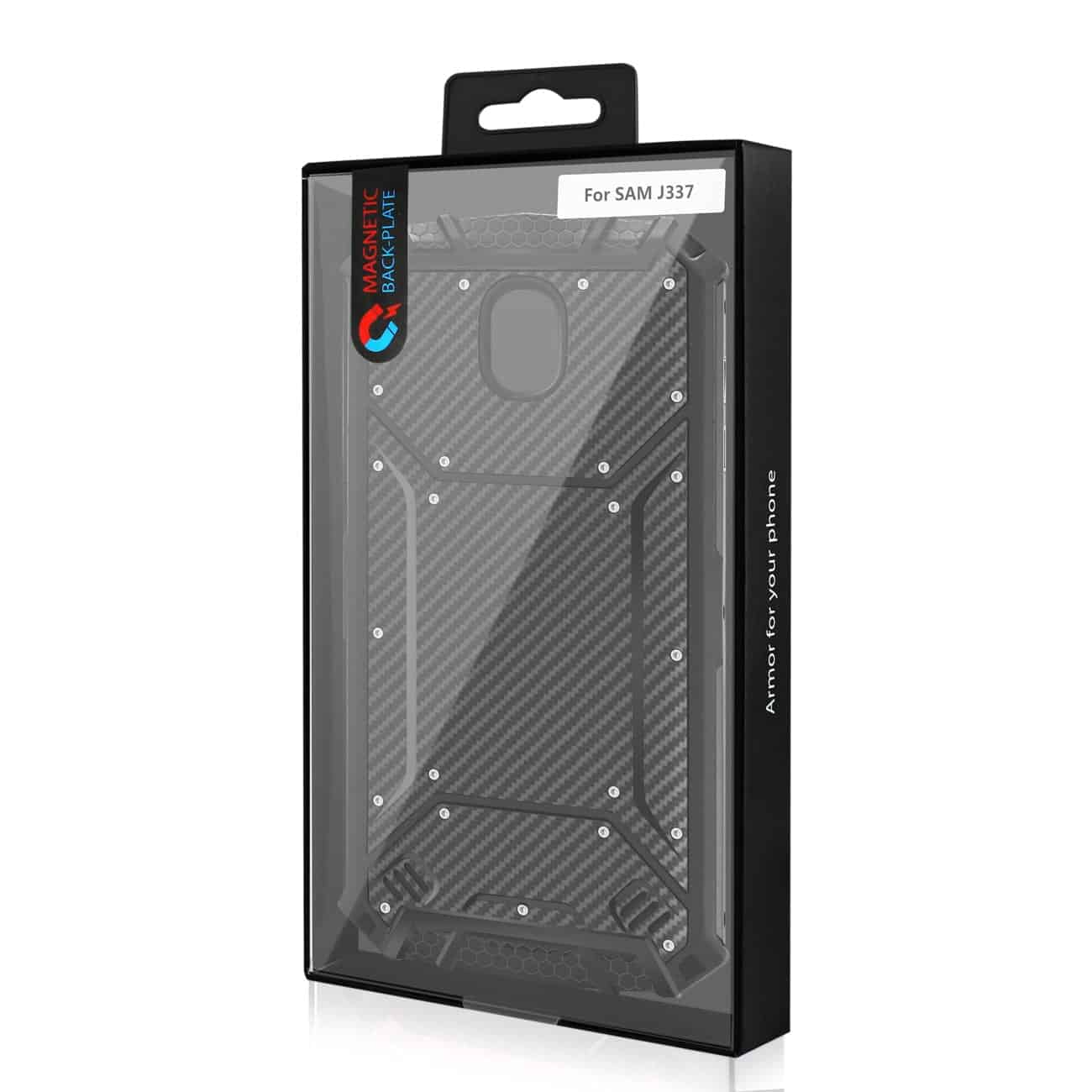 SAMSUNG GALAXY J3 (2018) Carbon Fiber Hard-shell Case In Black