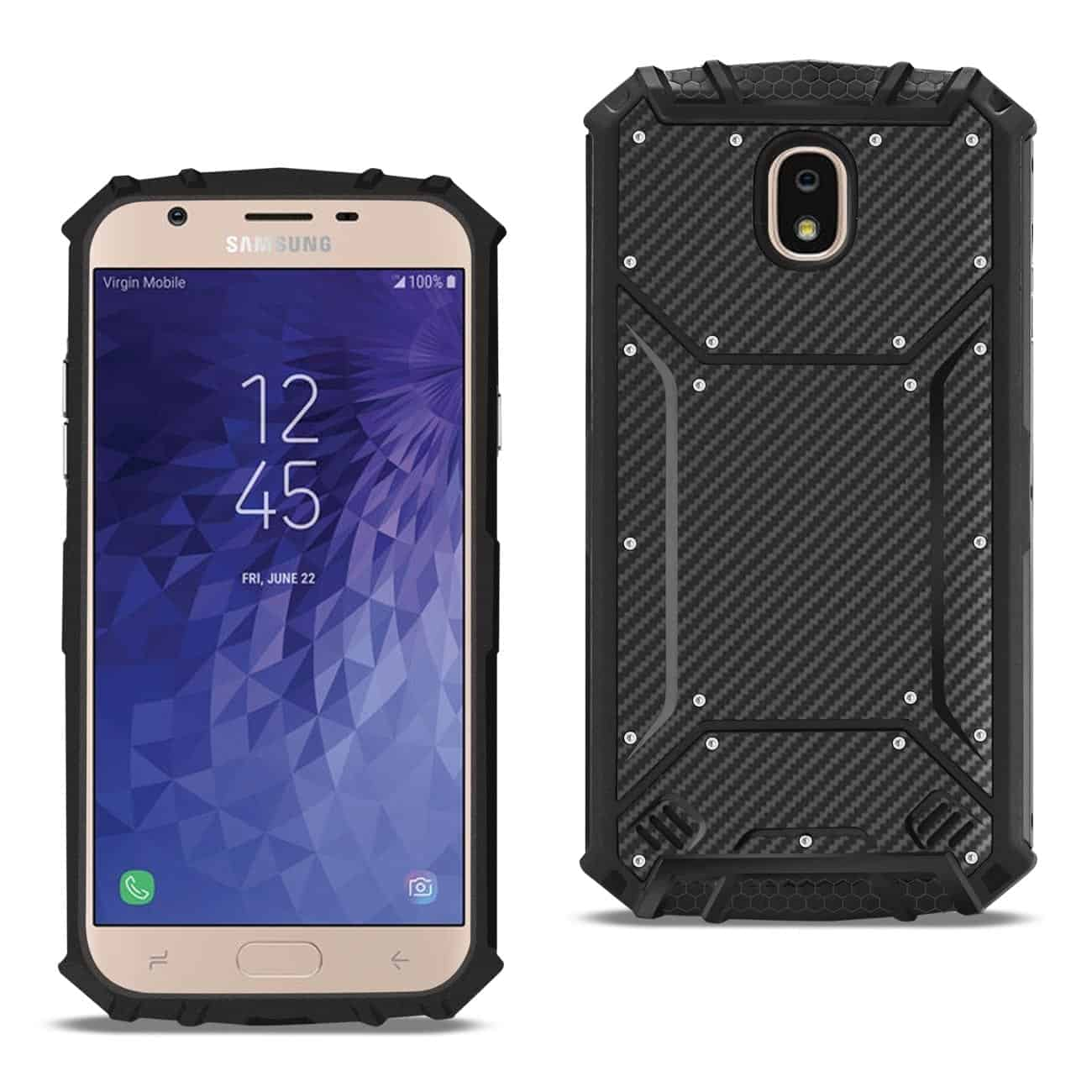 SAMSUNG GALAXY J7 (2018) Carbon Fiber Hard-shell Case In Black