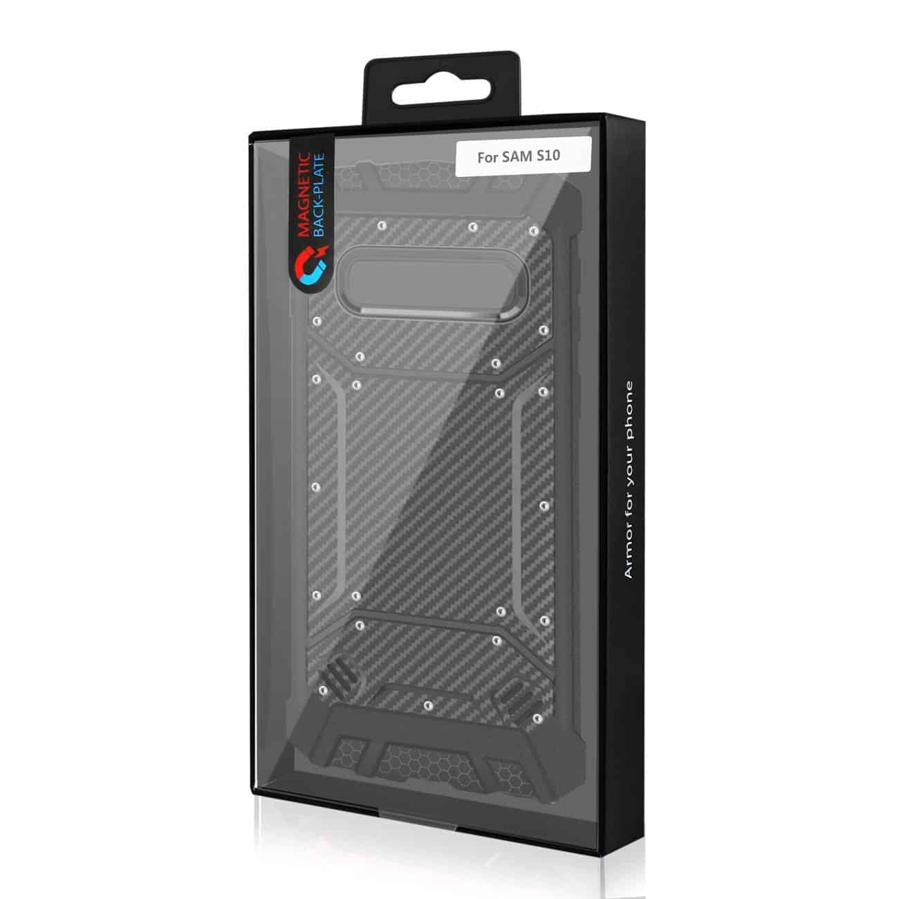 SAMSUNG GALAXY S10 Carbon Fiber Hard-shell Case In Black