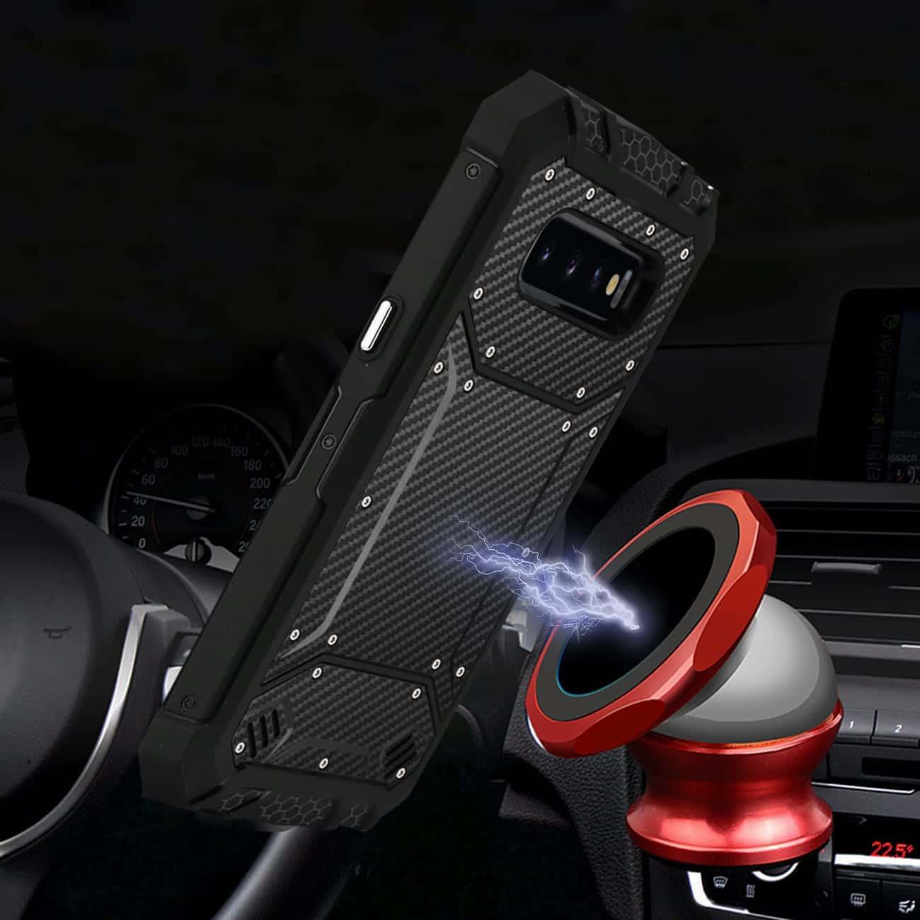 SAMSUNG GALAXY S10 Lite Carbon Fiber Hard-shell Case In Black