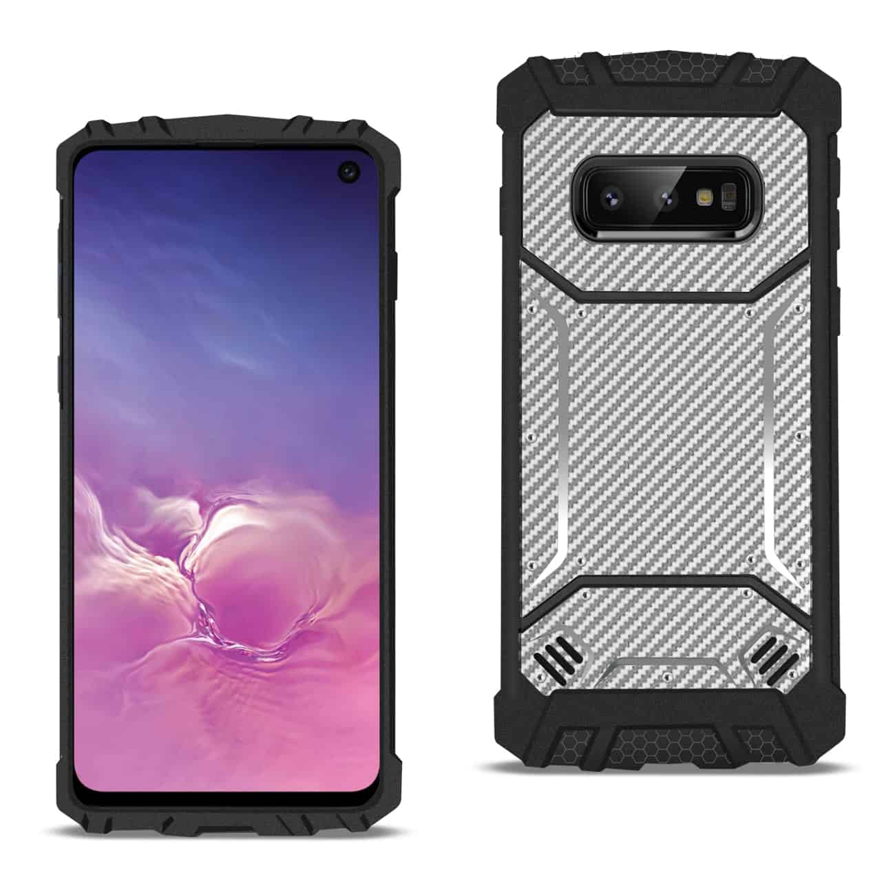 SAMSUNG GALAXY S10 Lite Carbon Fiber Hard-shell Case In Gray