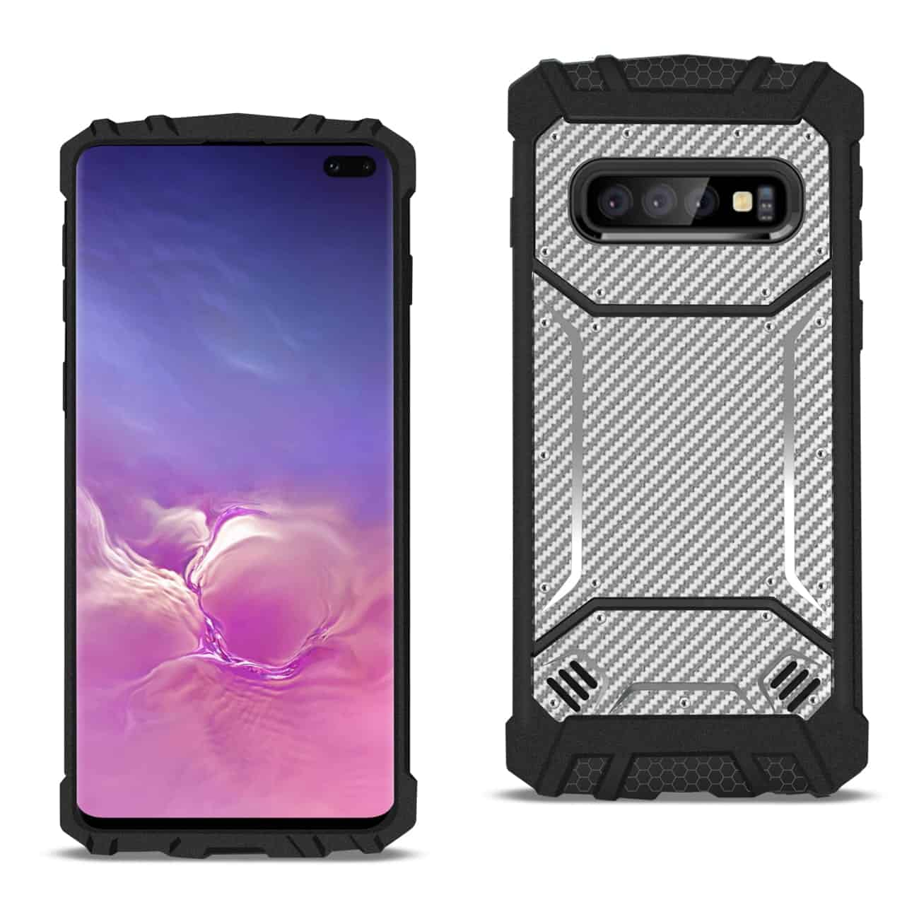 SAMSUNG GALAXY S10 Plus Carbon Fiber Hard-shell Case In Gray
