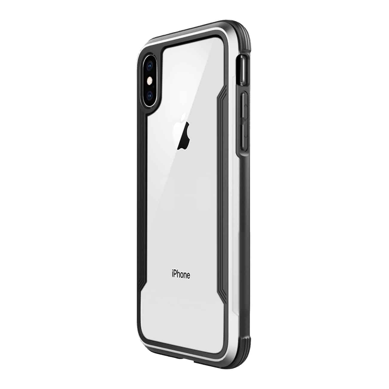 APPLE IPHONE X Defense Shield Case In Silver