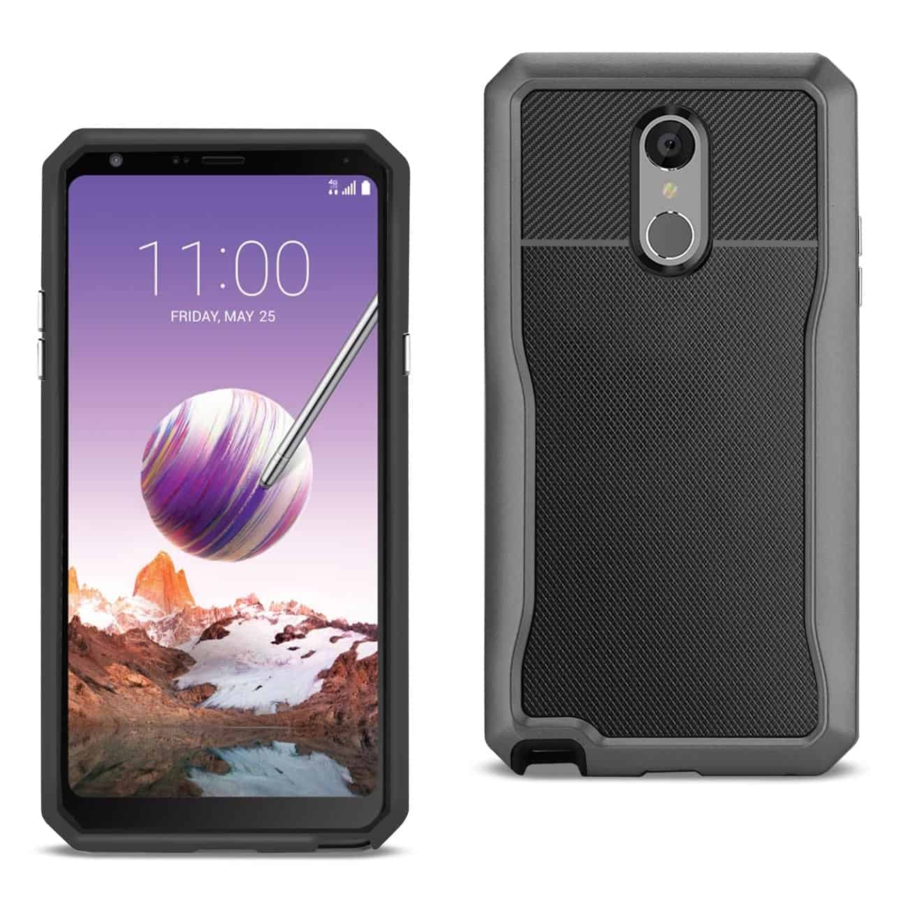 LG STYLO 4 Full Coverage Shockproof Case In Gray