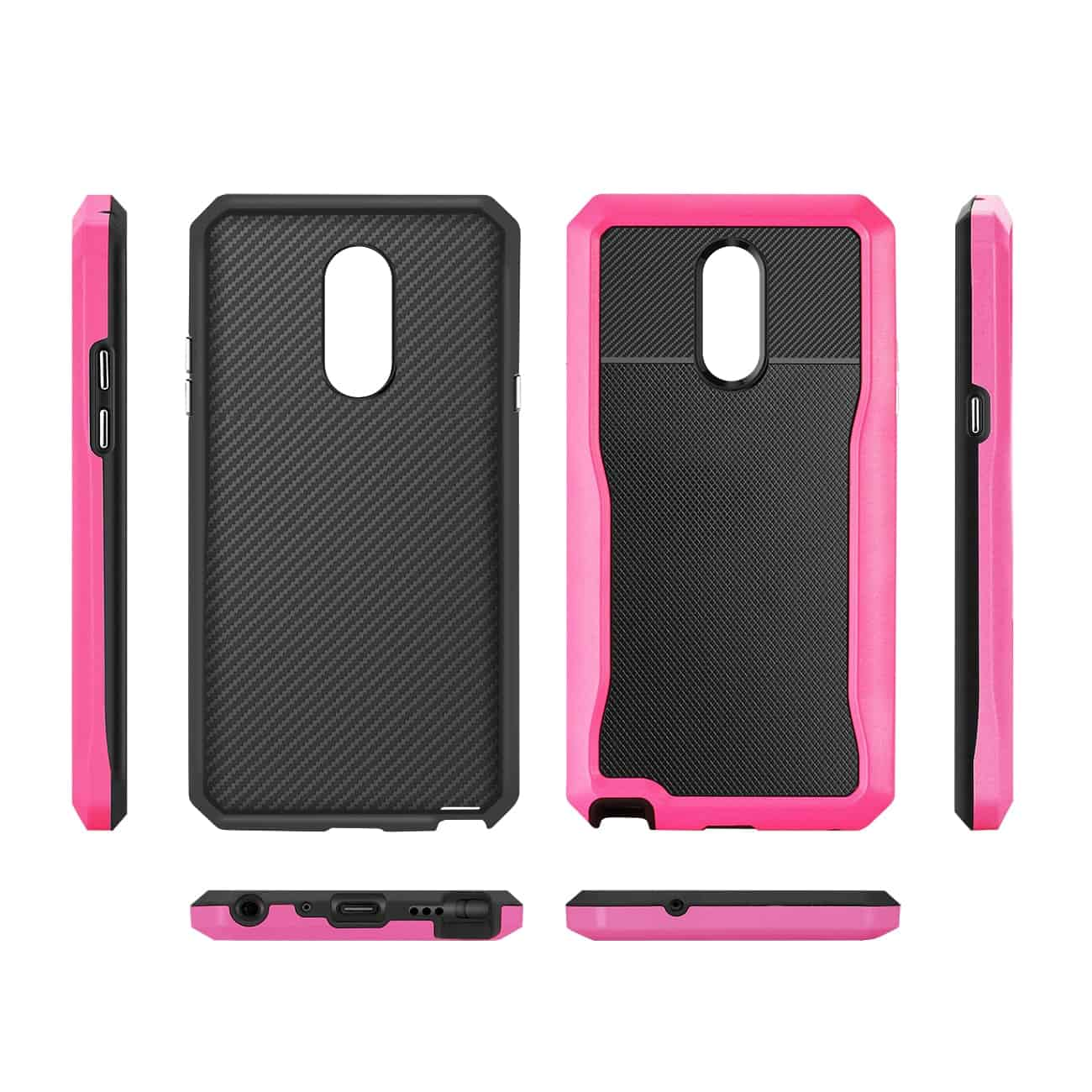 LG STYLO 4 Full Coverage Shockproof Case In Pink