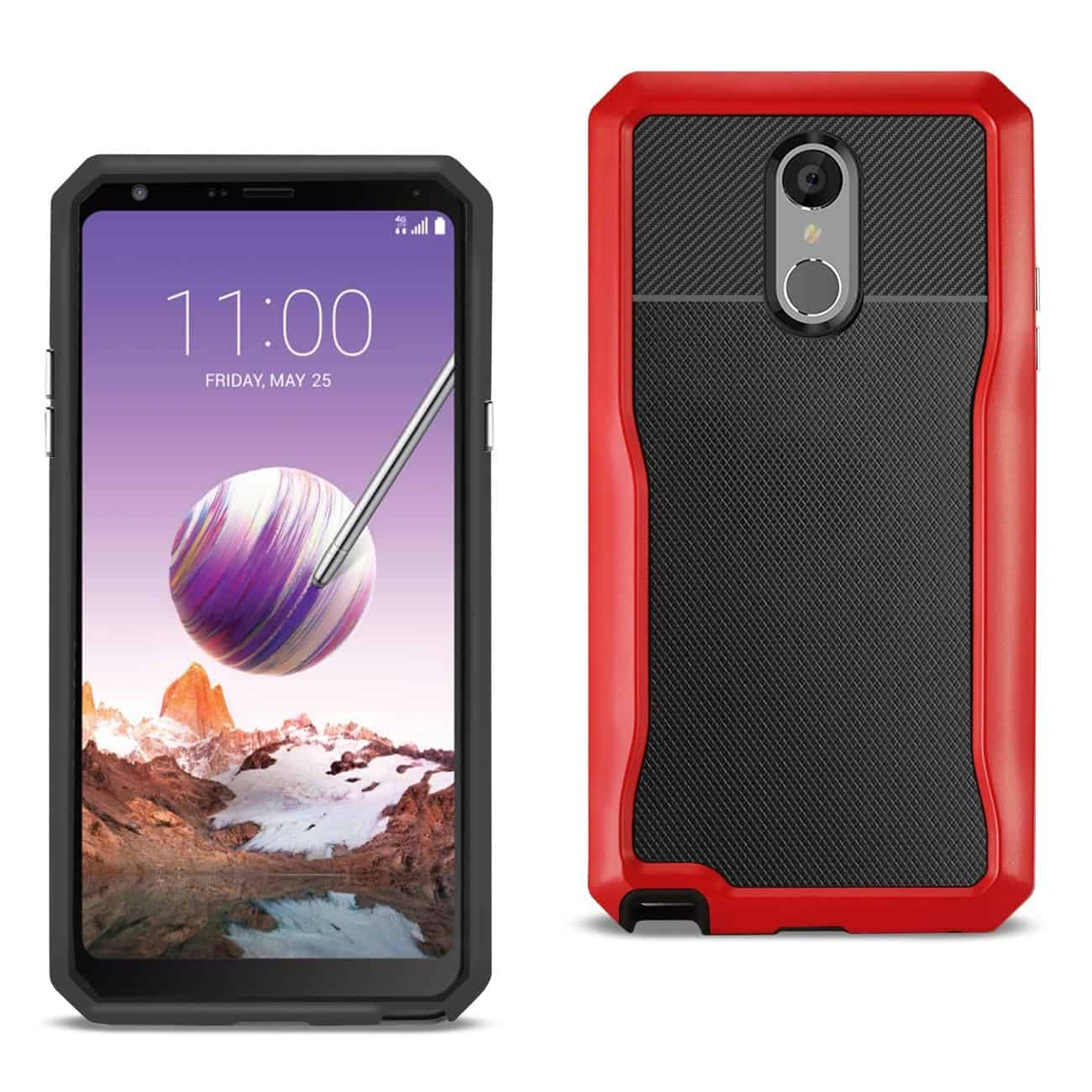 LG STYLO 4 Full Coverage Shockproof Case In Red