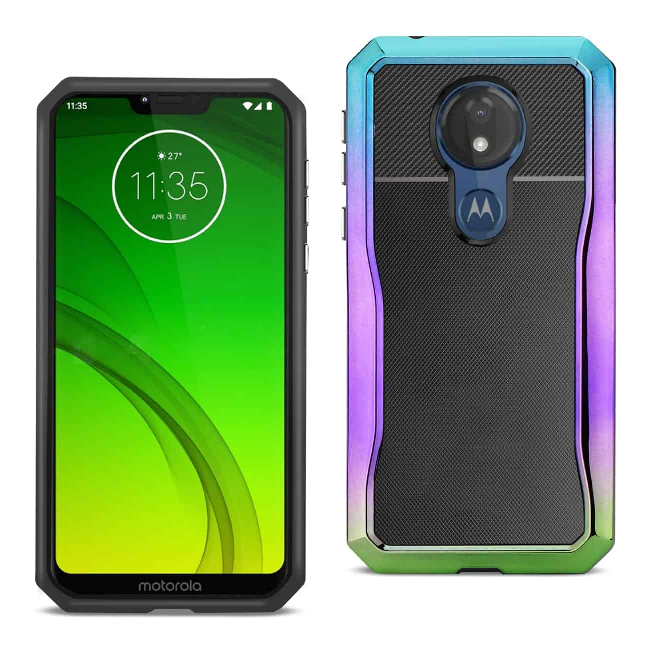 MOTOROLA MOTO G7 POWER Full Coverage Shockproof Case In Mix