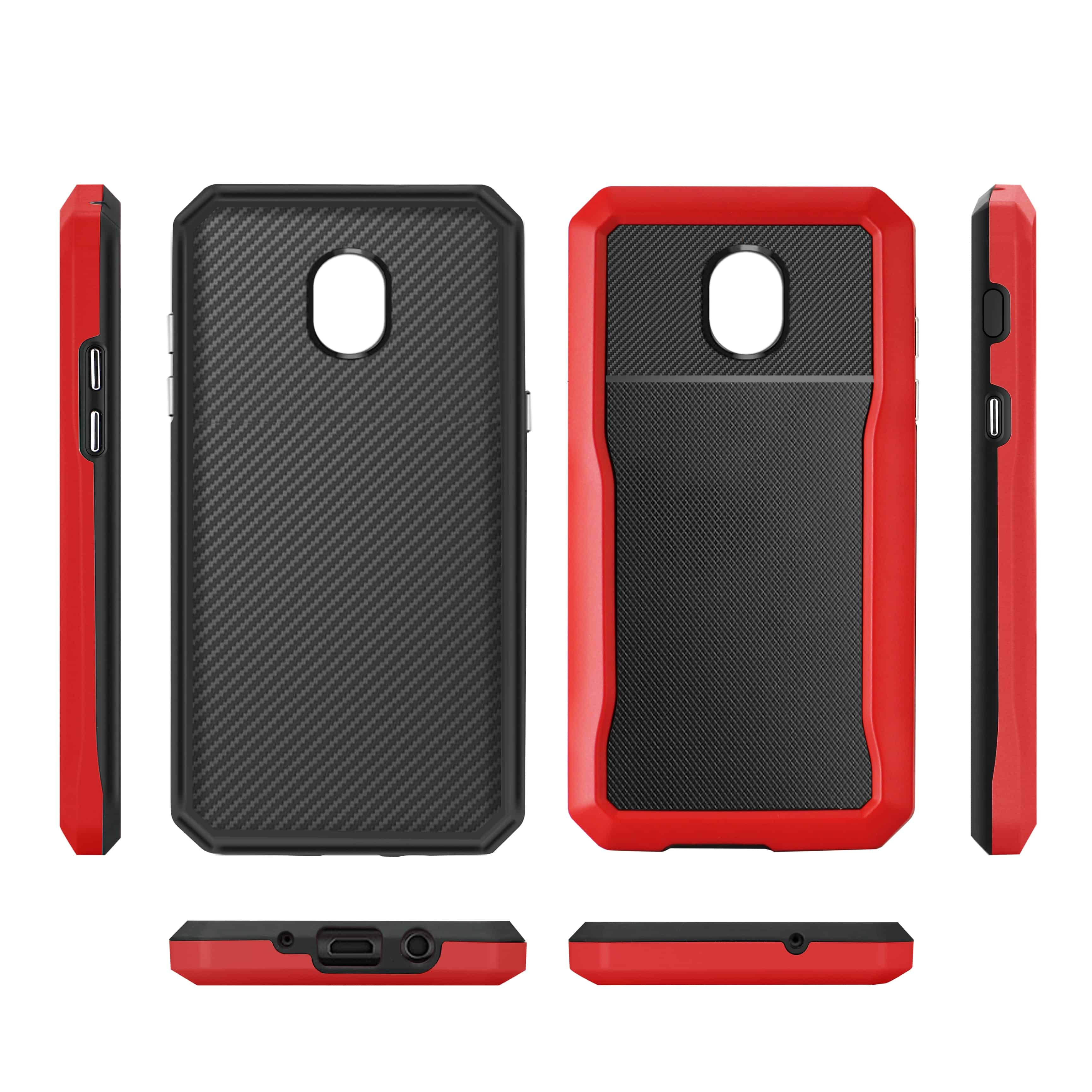 SAMSUNG GALAXY J3 (2018) Full Coverage Shockproof Case In Red
