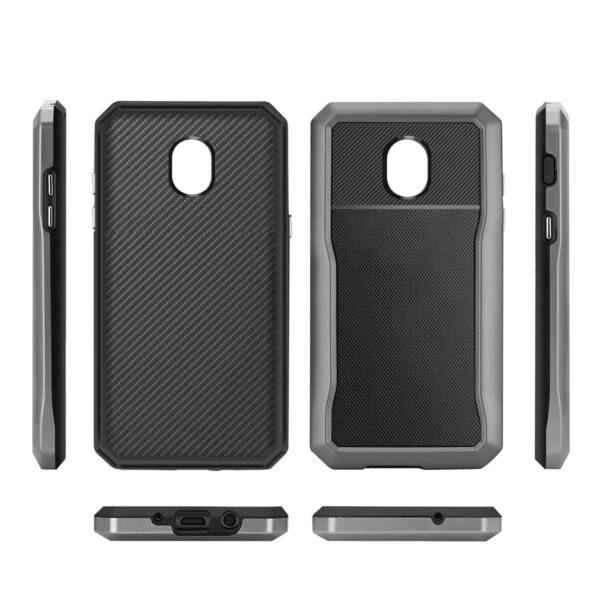SAMSUNG GALAXY J7 (2018) Full Coverage Shockproof Case In Gray
