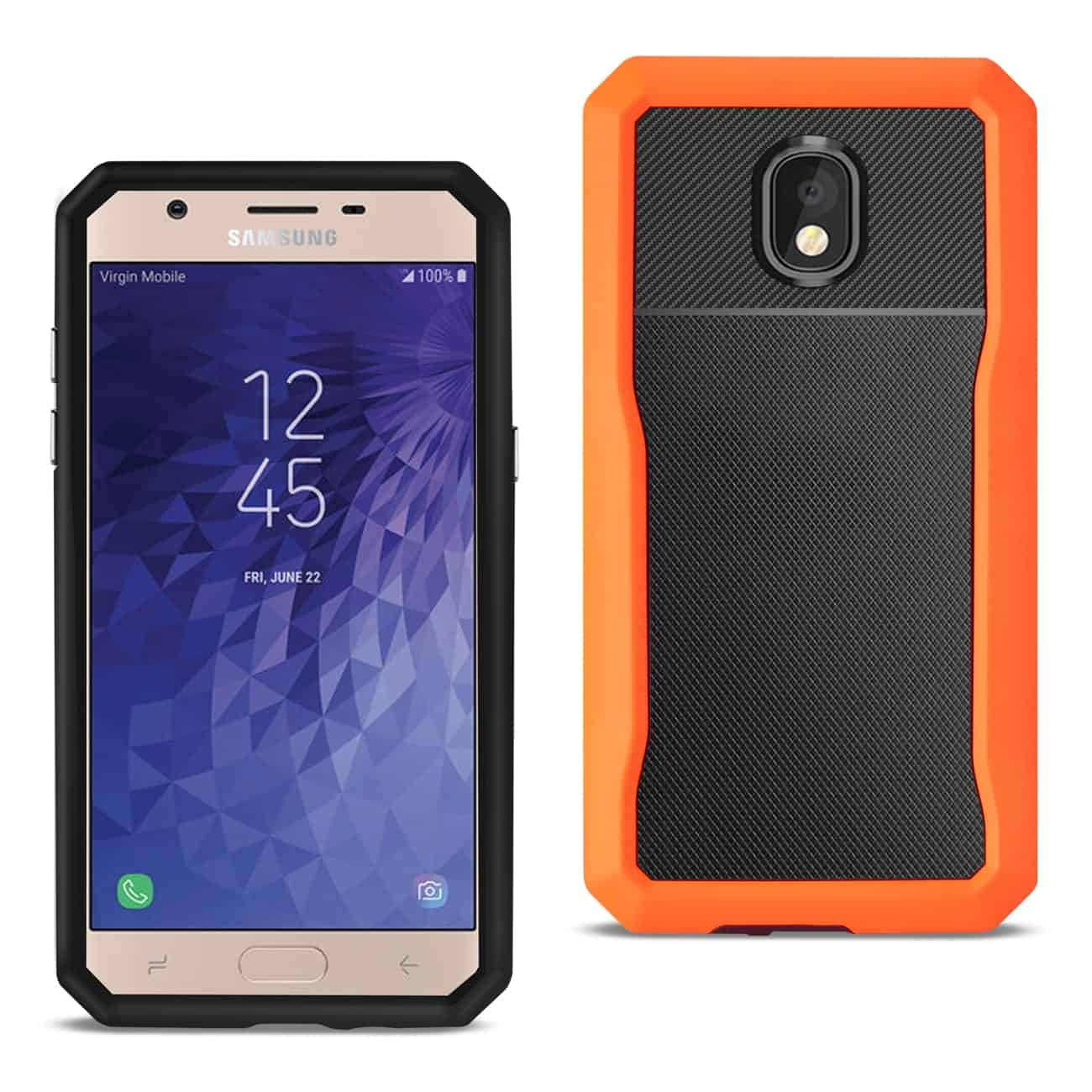 SAMSUNG GALAXY J7 (2018) Full Coverage Shockproof Case In Orange