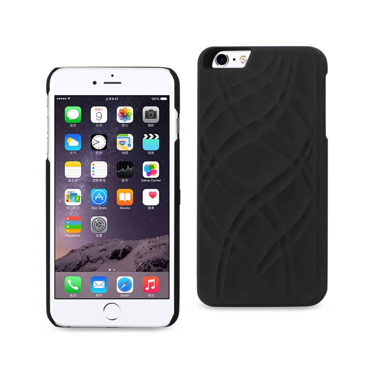 IPHONE 6 PLUS/ 6S PLUS HIDDEN MIRROR WALLET CASE WITH KICKSTAND FUNCTION IN BLACK