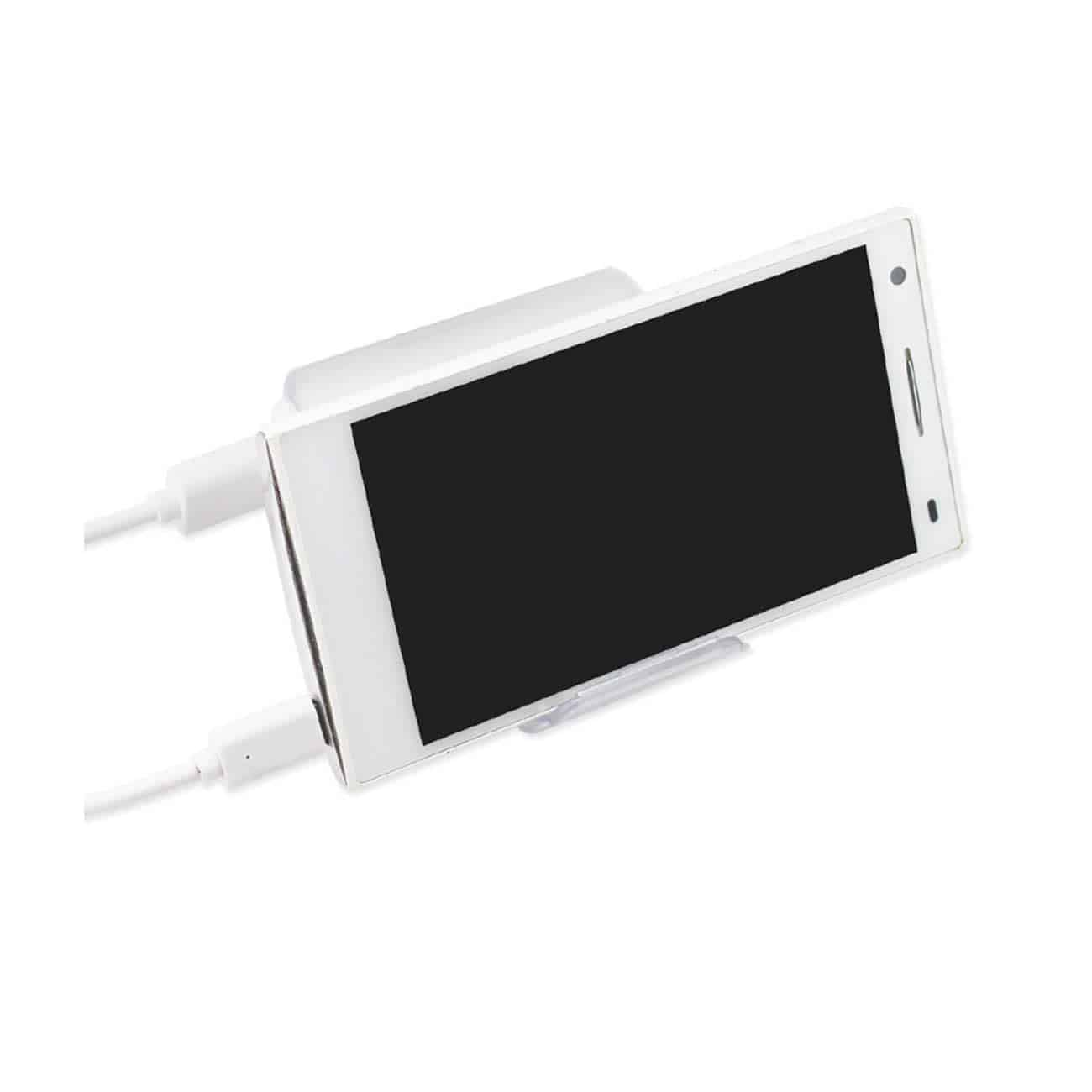 4000MAH UNIVERSAL POWER BANK WITH CABLE IN WHITE