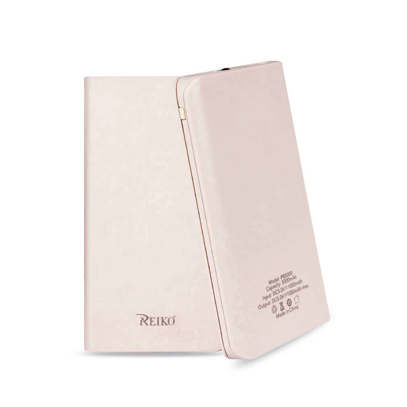 5000MAH UNIVERSAL POWER BANK WITH LED LIGHT IN PINK