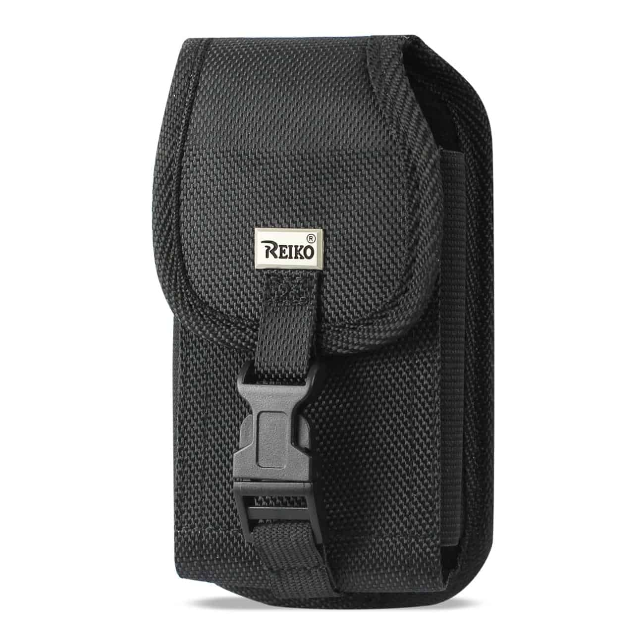 Vertical Rugged Pouch With Buckle Clip In Black (5.8X3.2X0.7 Inches)