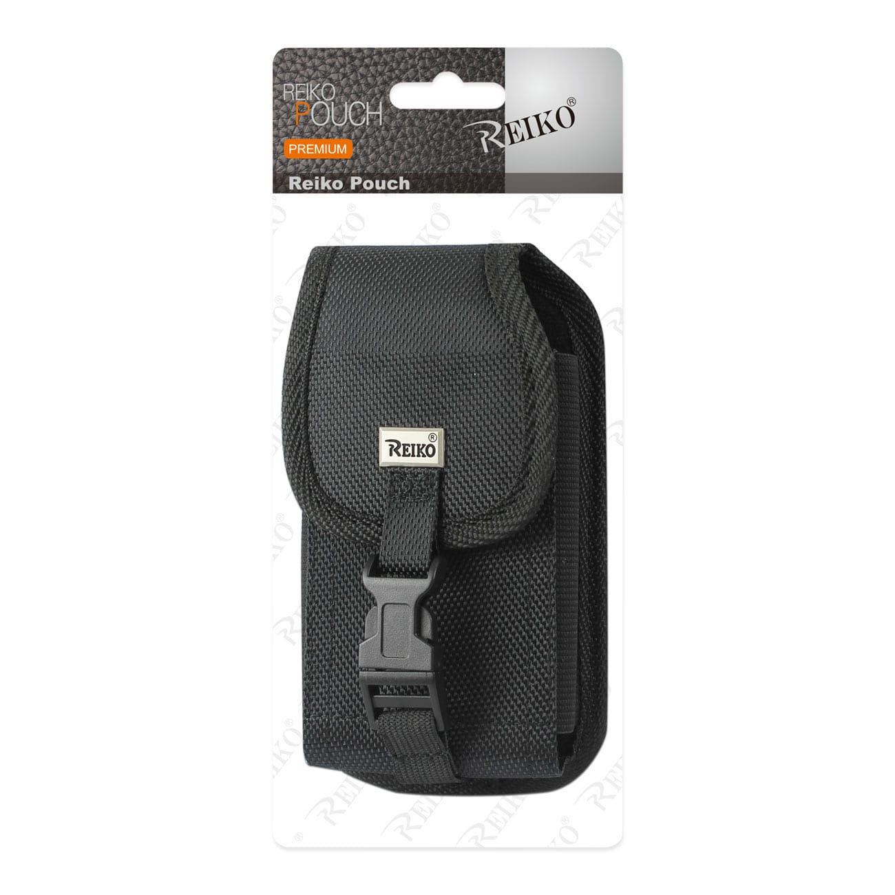 Vertical Rugged Pouch With Buckle Clip In Black (7.0X3.9X0.7 Inches)