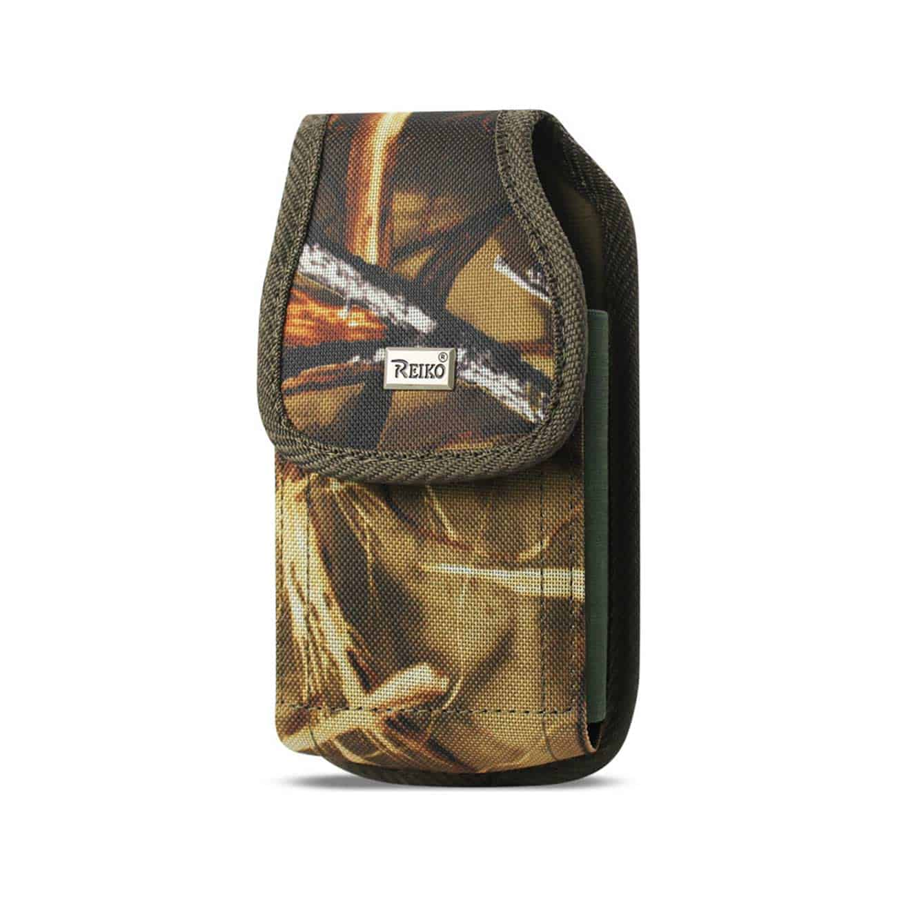 Vertical Rugged Pouch With Buckle Clip In Camouflage (5.3X2.7X0.7 Inches)
