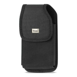 Vertical Rugged Pouch With Metal Belt Clip In Black (5.8X3.2X0.7 Inches)