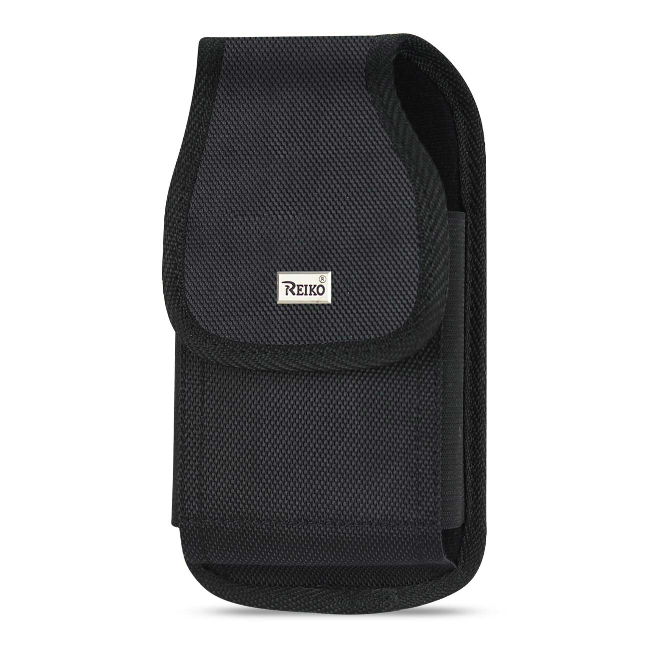 Vertical Rugged Pouch With Metal Belt Clip In Black (6.6X3.5X0.7 Inches)