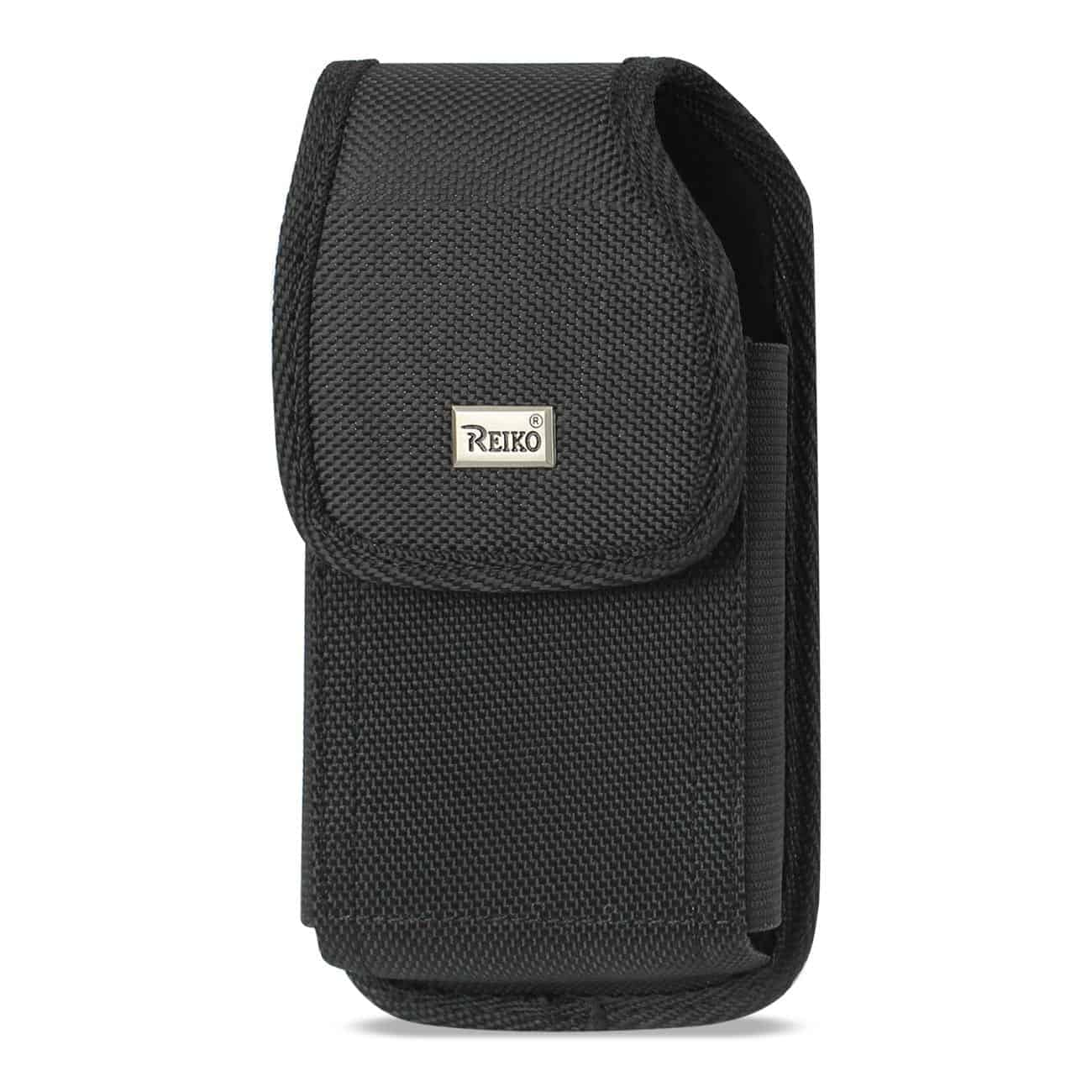 Vertical Rugged Pouch With Metal Belt Clip In Black (7.0X3.9X0.7 Inches)