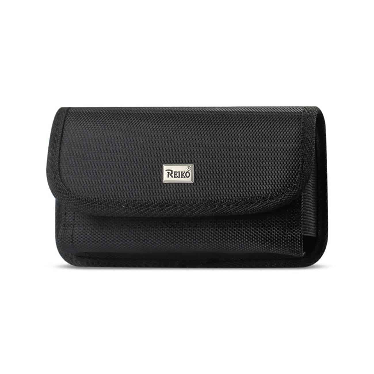Horizontal Rugged Pouch With Velcro In Black (5.8X3.2X0.7 Inches)