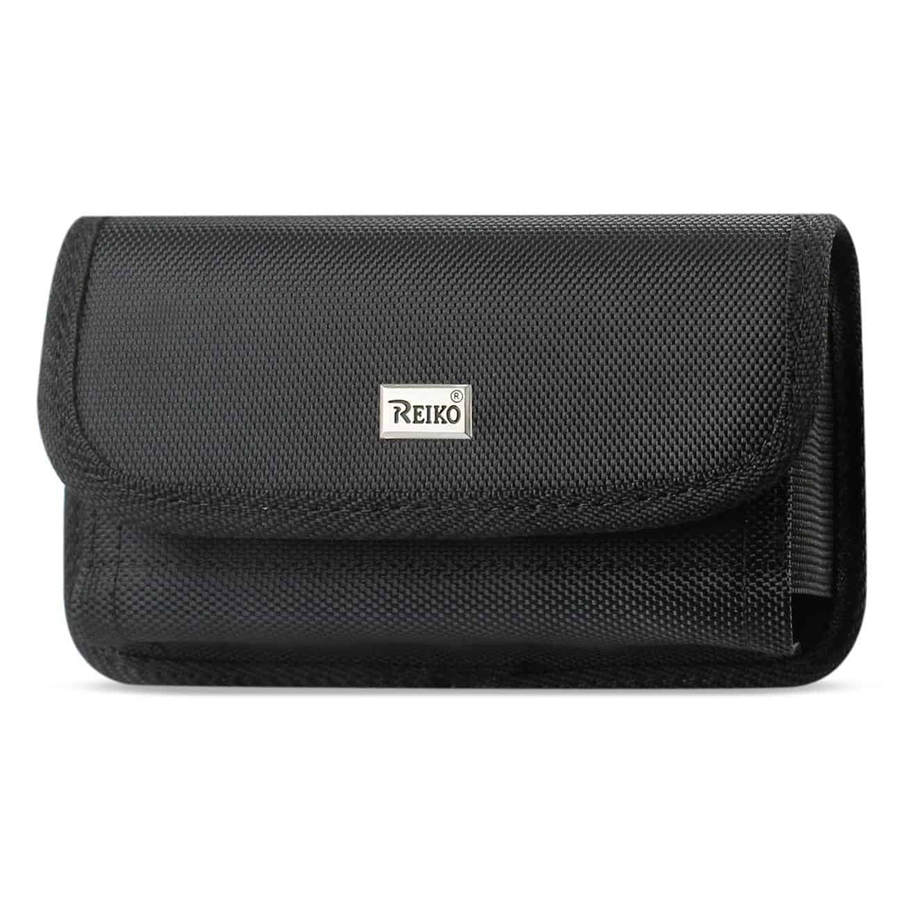 Horizontal Rugged Pouch With Velcro In Black (6.4X3.5X0.7 Inches)