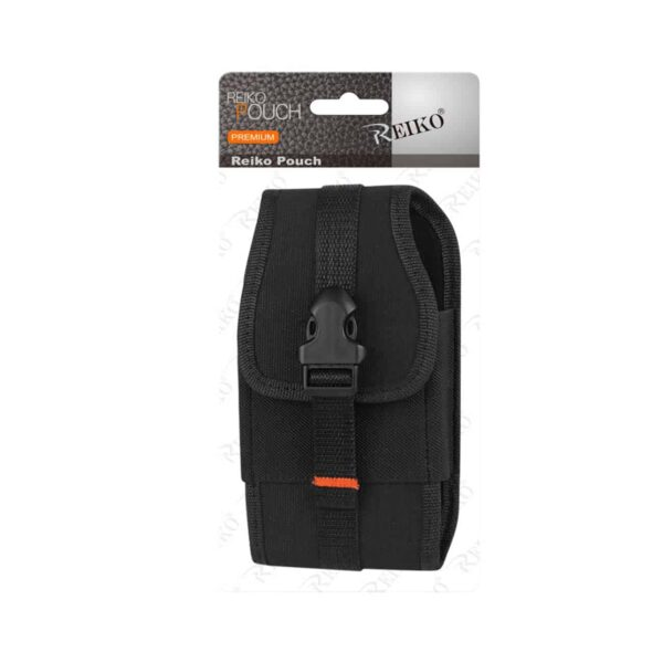 Vertical Rugged Pouch With Velcro And Belt Clip In Black (6.4X3.5X0.7 Inches)