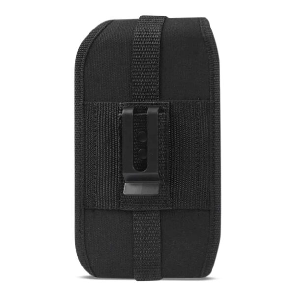 Vertical Rugged Pouch With Velcro And Belt Clip In Black (6.6X3.5X0.7 Inches)