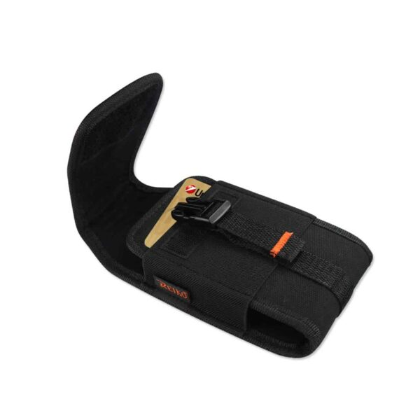 Vertical Rugged Pouch With Velcro And Belt Clip In Black (7.0X3.9X0.7 Inches)