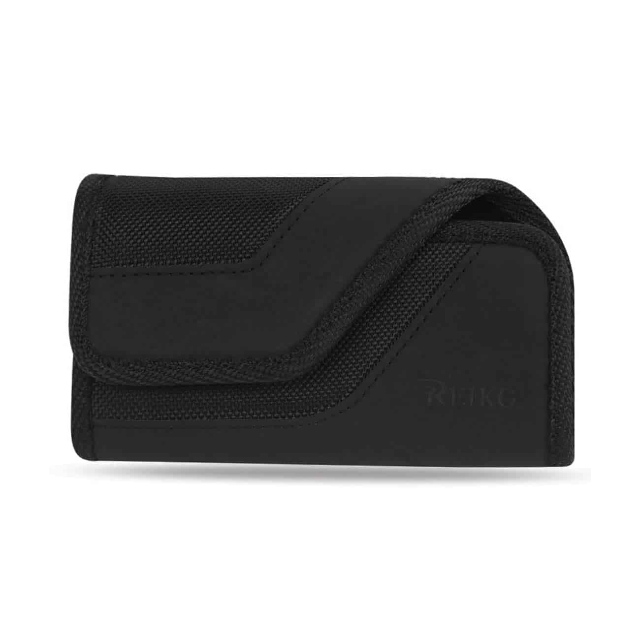 HORIZONTAL RUGGED POUCH WITH IPHONE5 PLUS BLACK