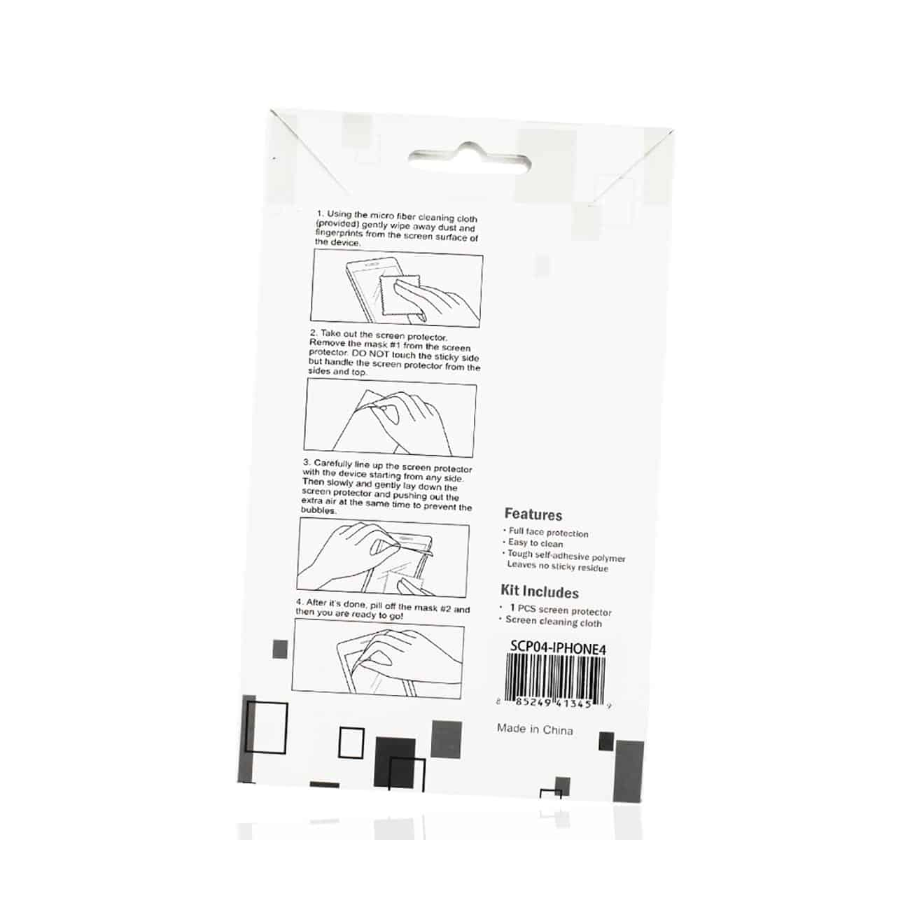 IPHONE 4G PRIVACY SCREEN PROTECTOR IN CLEAR