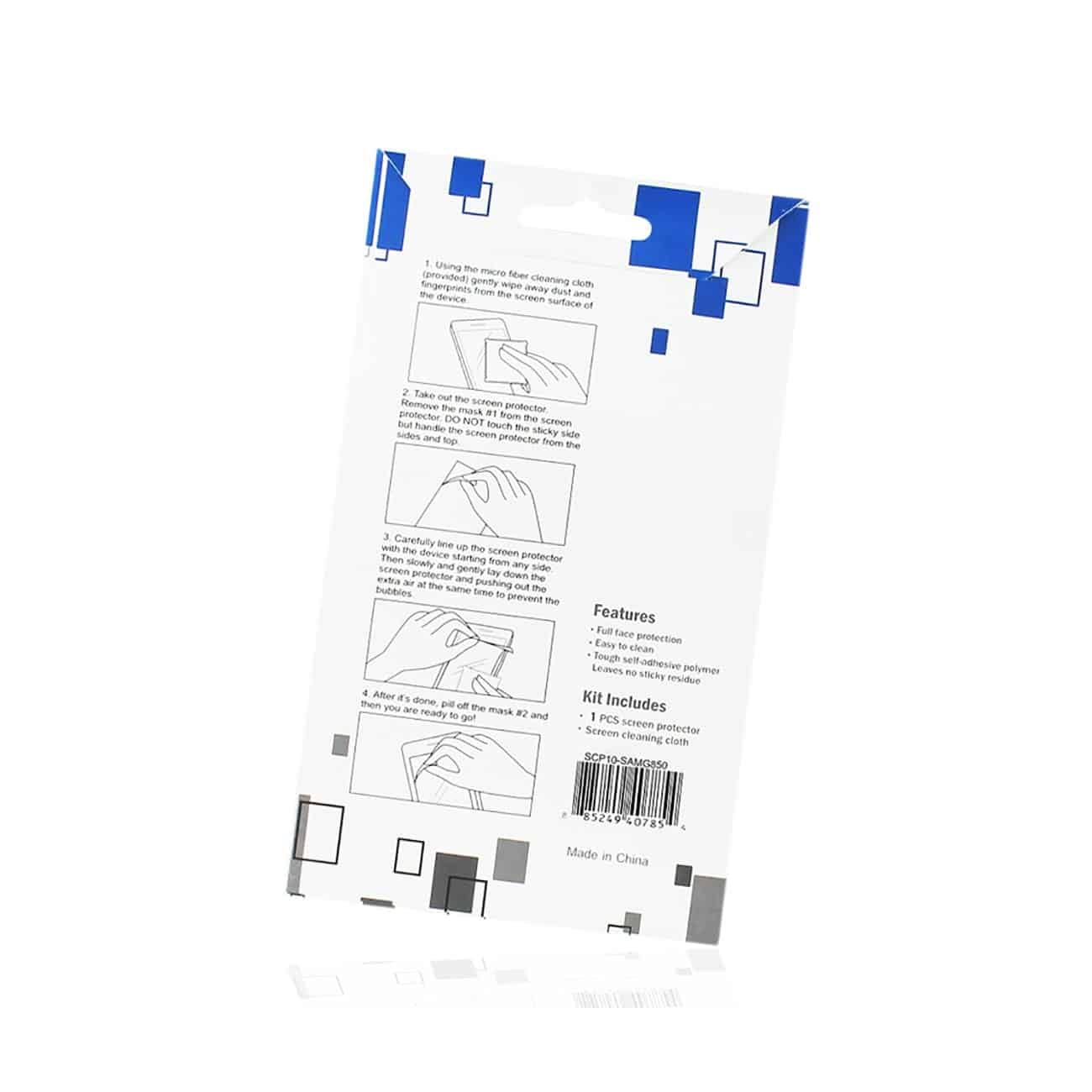 SAMSUNG GALAXY ALPHA TWO PIECES SCREEN PROTECTOR IN CLEAR