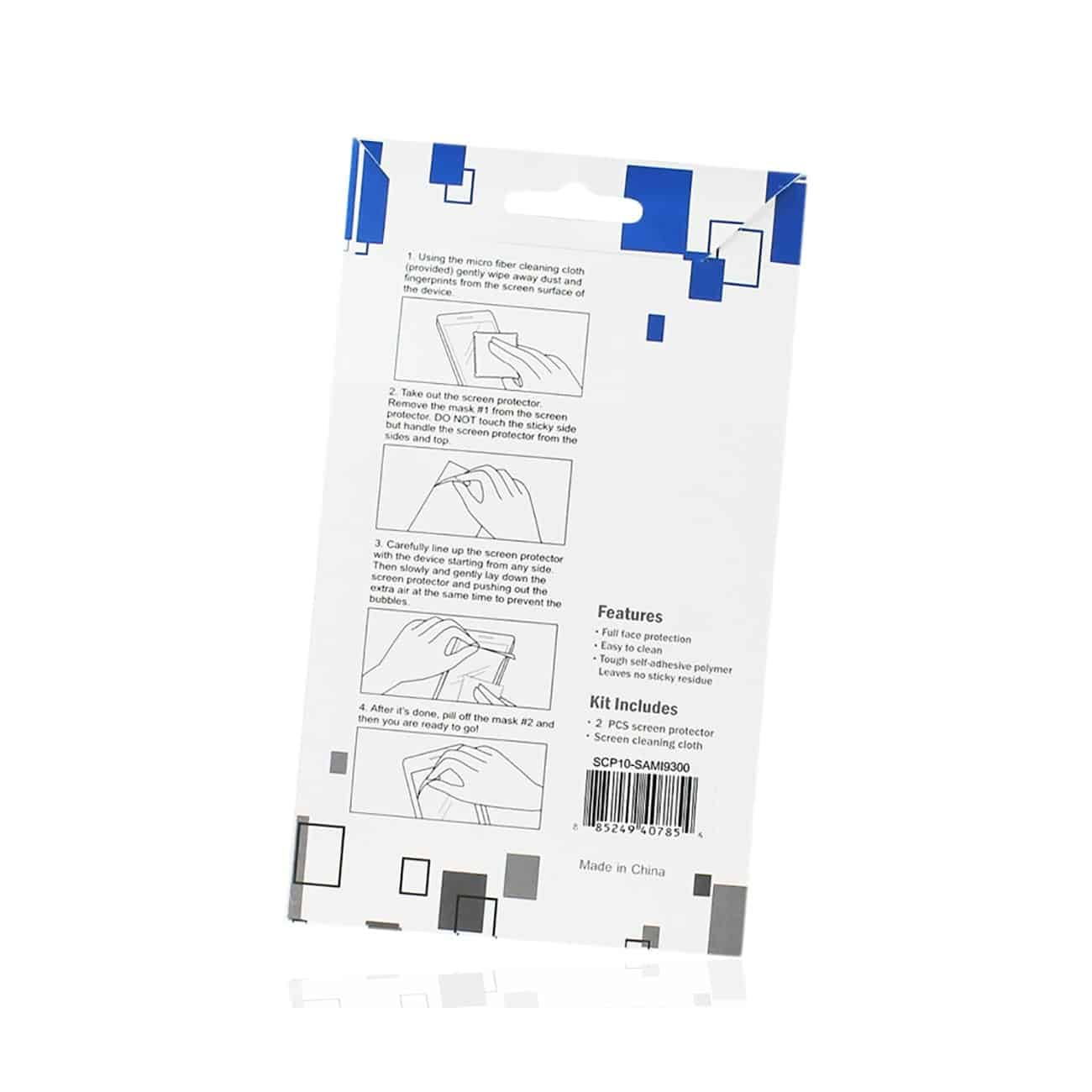 SAMSUNG GALAXY S3 TWO PIECES SCREEN PROTECTOR IN CLEAR