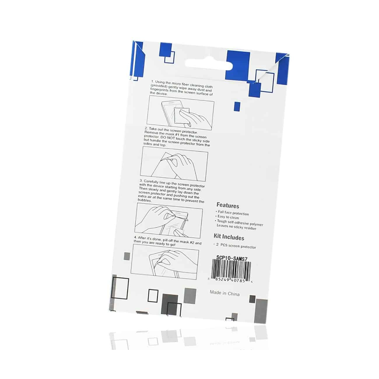 SAMSUNG GALAXY S7 TWO PIECES SCREEN PROTECTOR INCLEAR