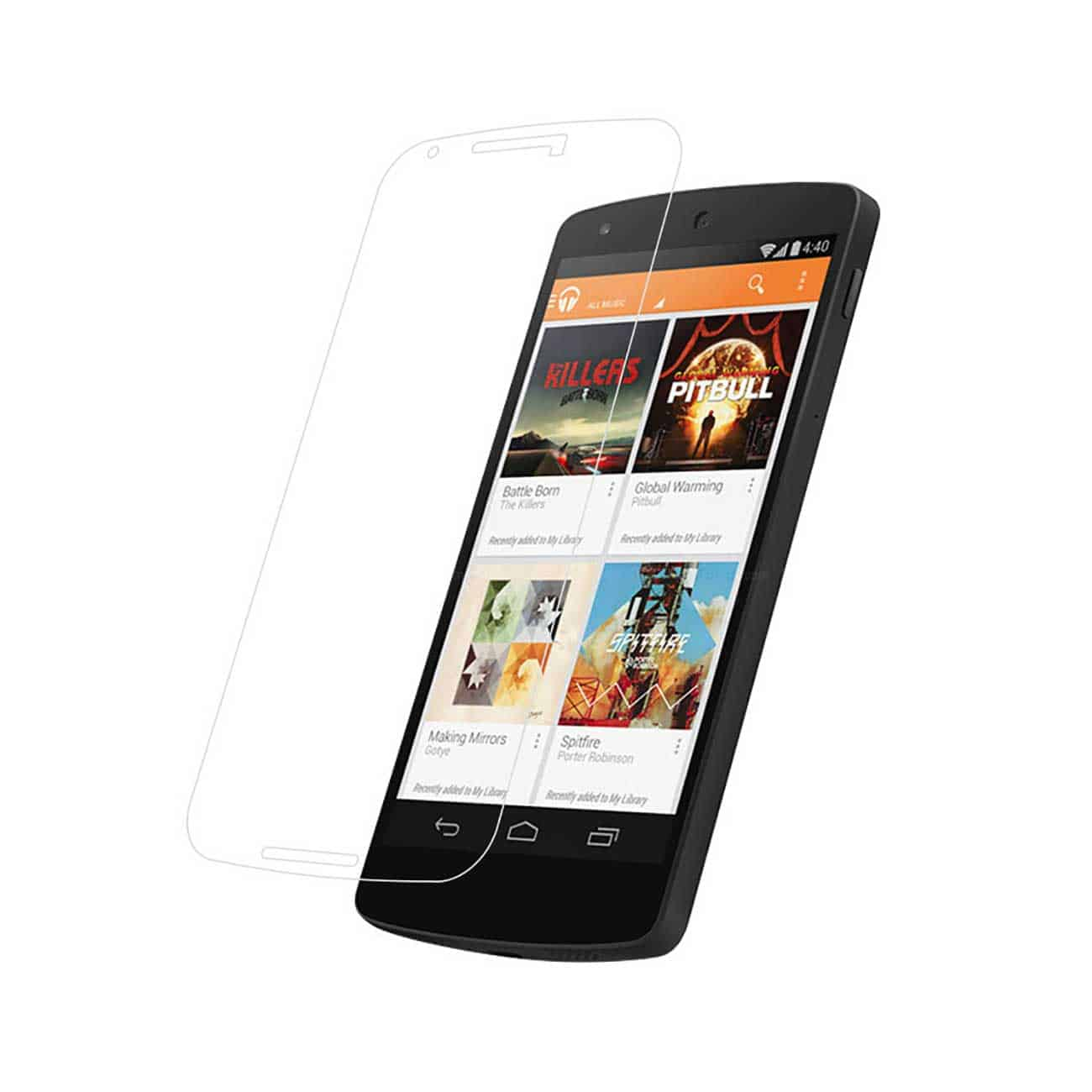 LG NEXUS 5X TEMPERED GLASS SCREEN PROTECTOR IN CLEAR