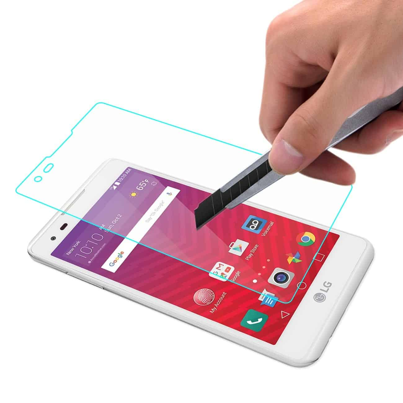 LG X STYLE/ TRIBUTE HD TEMPERED GLASS SCREEN PROTECTOR IN CLEAR