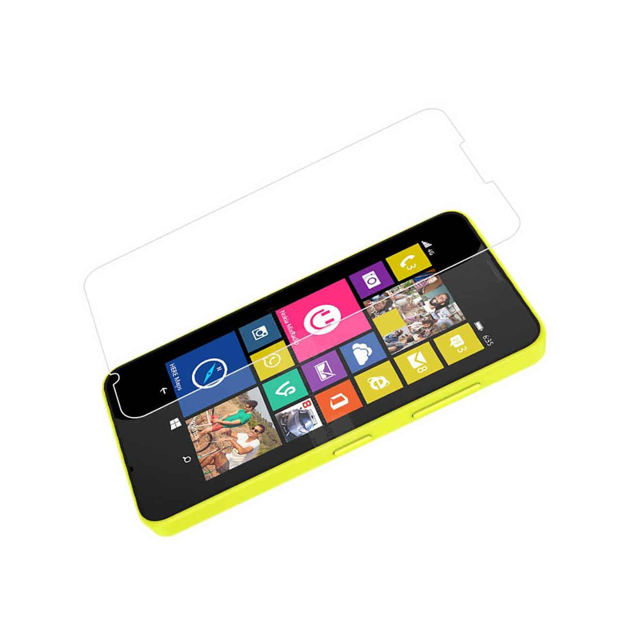 NOKIA LUMIA 635 TEMPERED GLASS SCREEN PROTECTOR IN CLEAR
